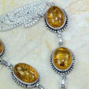 Amb 009c collier parure sautoir ambre amber baltique baltic achat vente bijoux argent 925