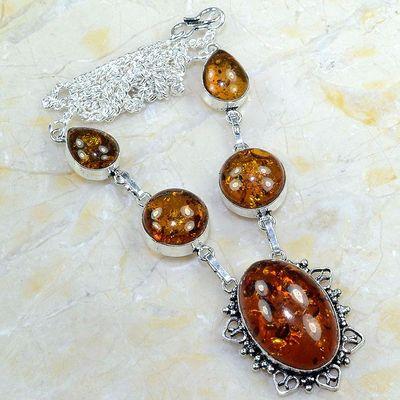 Amb 014a collier parure sautoir ambre amber baltique baltic achat vente bijoux argent 925