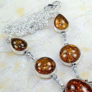 Amb 014c collier parure sautoir ambre amber baltique baltic achat vente bijoux argent 925