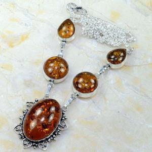 Amb 014d collier parure sautoir ambre amber baltique baltic achat vente bijoux argent 925
