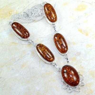 Amb 016a collier parure sautoir ambre amber baltique baltic achat vente bijoux argent 925