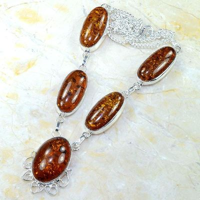 Amb 016d collier parure sautoir ambre amber baltique baltic achat vente bijoux argent 925