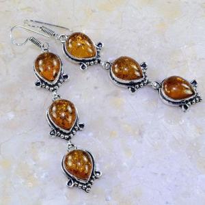 Amb 019a boucles pendants oreilles ambre amber baltique achat vente bijoux argent 925