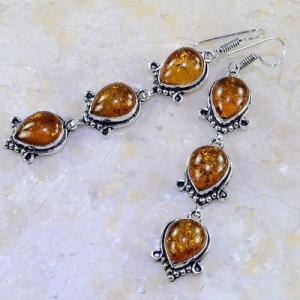 Amb 019b boucles pendants oreilles ambre amber baltique achat vente bijoux argent 926