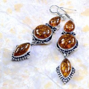 Amb 023b boucles pendants oreilles ambre amber baltique achat vente bijoux argent 925