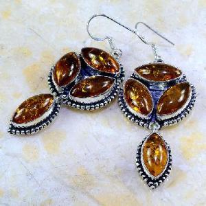 Amb 025a boucles pendants oreilles ambre amber baltique achat vente bijoux argent 925