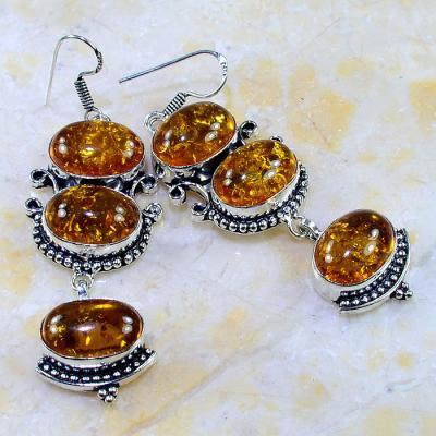 Amb 036a boucles pendants oreilles ambre amber baltique achat vente bijoux argent 925