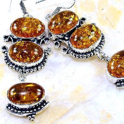 Amb 036c boucles pendants oreilles ambre amber baltique achat vente bijoux argent 926