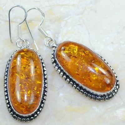 Amb 039a boucles pendants oreilles ambre amber baltique achat vente bijoux argent 926