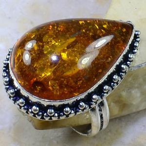 Amb 043a bague t61 cabochon ambre amber baltique baltic achat vente bijoux argent 925