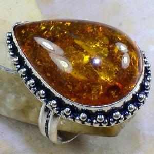 Amb 043b bague t61 cabochon ambre amber baltique baltic achat vente bijoux argent 925