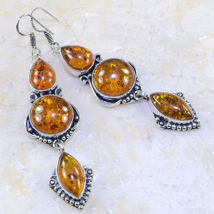 Amb 044a boucles pendants oreilles ambre amber baltique achat vente bijoux argent 925