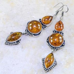 Amb 044b boucles pendants oreilles ambre amber baltique achat vente bijoux argent 925
