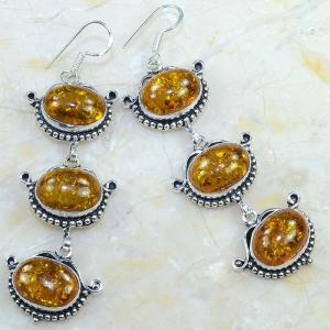 Amb 045a boucles pendants oreilles ambre amber baltique achat vente bijoux argent 925