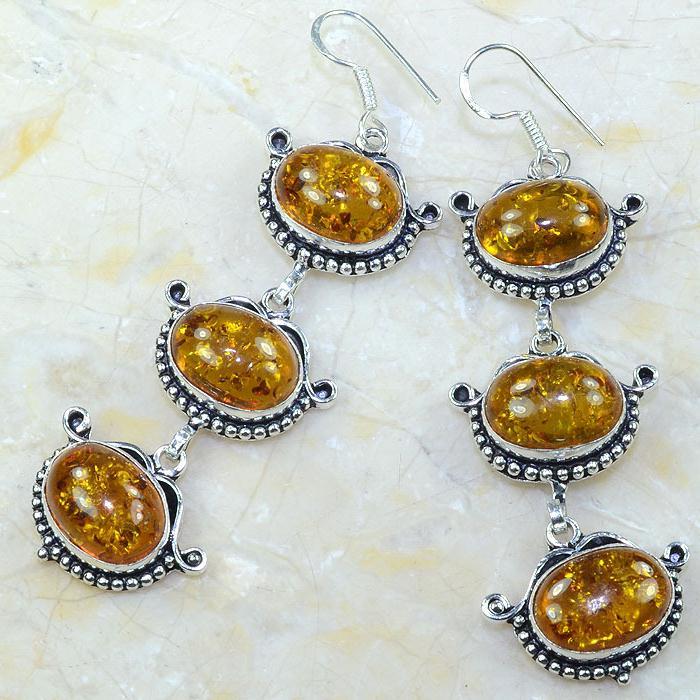 Amb 045b boucles pendants oreilles ambre amber baltique achat vente bijoux argent 925