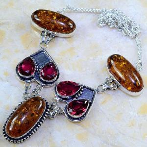 Amb 046a collier parure sautoir ambre grenat amber baltique achat vente bijoux argent 925