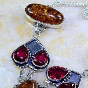 Amb 046c collier parure sautoir ambre grenat amber baltique achat vente bijoux argent 925