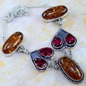 Amb 046d collier parure sautoir ambre grenat amber baltique achat vente bijoux argent 925