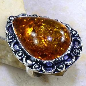 Amb 048c bague t60 cabochon ambre amber baltique baltic achat vente bijoux argent 925