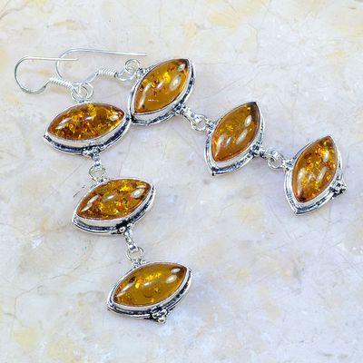Amb 050a boucles pendants oreilles ambre amber baltique achat vente bijoux argent 925 1