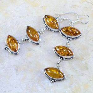 Amb 050b boucles pendants oreilles ambre amber baltique achat vente bijoux argent 925 1