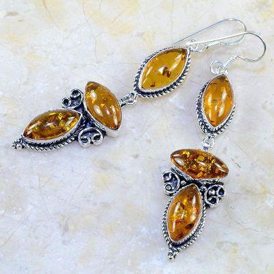 Amb 051b boucles pendants oreilles ambre amber baltique achat vente bijoux argent 925 1