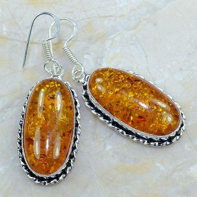 Amb 054a boucles pendants oreilles ambre amber baltique achat vente bijoux argent 925 1