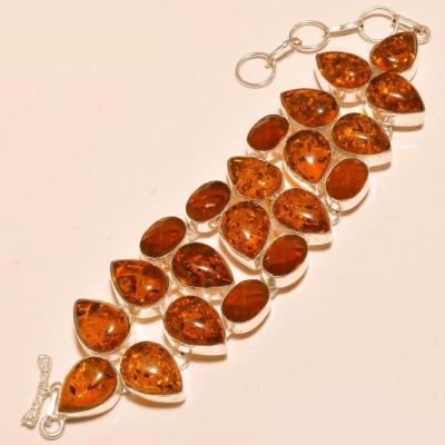 Amb 055d bracelet ambre amber baltique baltic citrine madereachat vente bijoux argent 925