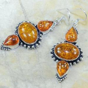 Amb 057b boucles pendants oreilles ambre amber baltique achat vente bijoux argent 925