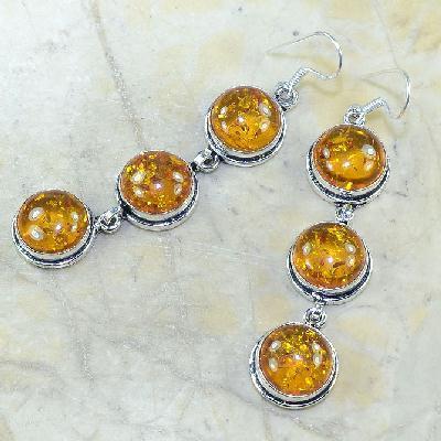 Amb 058b boucles pendants oreilles ambre amber baltique achat vente bijoux argent 925