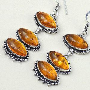 Amb 061b boucles pendants oreilles ambre amber baltique achat vente bijoux argent 925