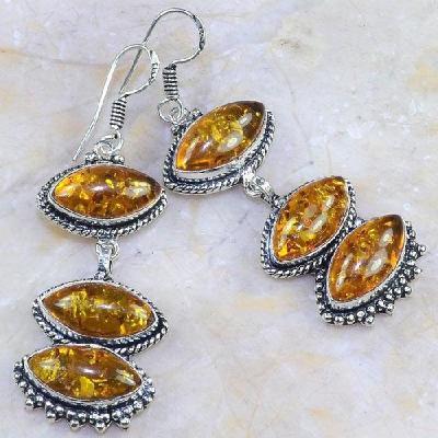 Amb 064a boucles pendants oreilles ambre amber baltique achat vente bijoux argent 925