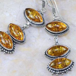 Amb 064b boucles pendants oreilles ambre amber baltique achat vente bijoux argent 925