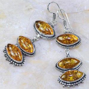 Amb 064c boucles pendants oreilles ambre amber baltique achat vente bijoux argent 925