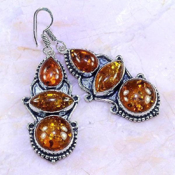 Amb 066a boucles pendants oreilles ambre amber baltique achat vente bijoux argent 925