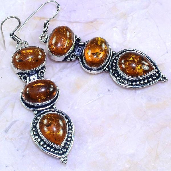 Amb 067c boucles pendants oreilles ambre amber baltique achat vente bijoux argent 925