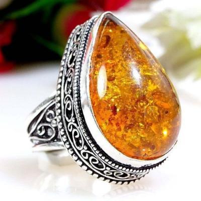 Amb 071a bague chevaliere t58 ambre amber baltique baltic achat vente bijoux argent 925