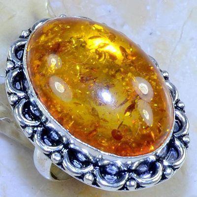 Amb 075b bague t59 chevaliere 20x29mm amber baltique baltic achat vente bijoux argent 925