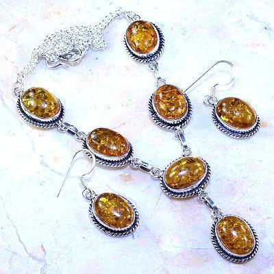 Amb 076a collier boucles oreilles parure ambre baltique baltic achat vente bijoux argent 925