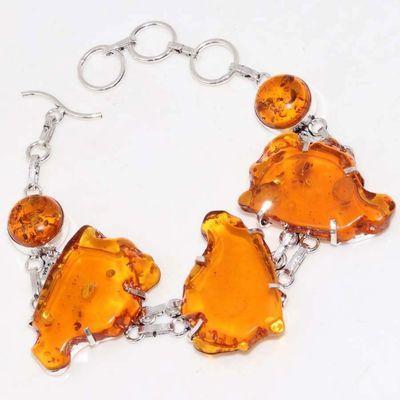 Amb 083a bracelet ambre jaune miel 27gr baltique achat vente bijoux argent 925