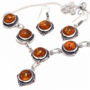 Amb 088b collier boucles oreilles 26gr 12mm parure ambre baltique achat vente bijoux argent 925