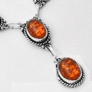 Amb 097d collier boucles oreilles pendants 33gr ambre baltique miel 10x15mm argent 925