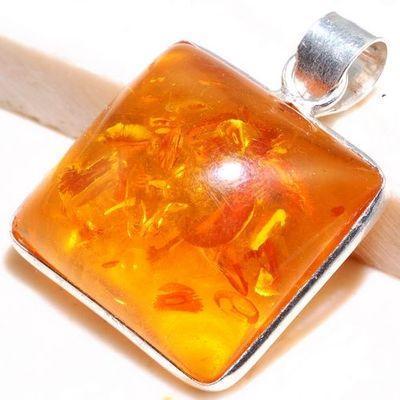 Amb 102a pendant pendentif chaine ambre amber baltique achat vente bijoux argent 925