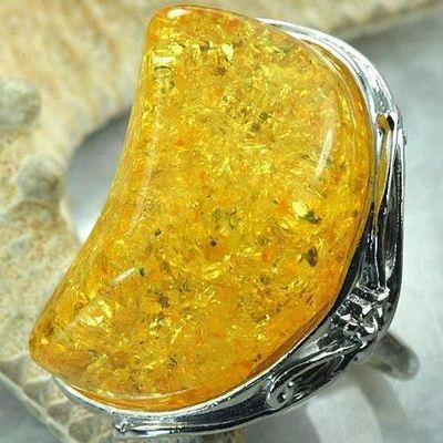 Amb 104a bague t58 cabochon 25x35mm ambre amber baltique vente bijoux argent 925