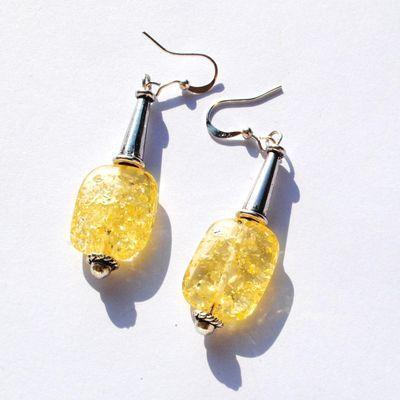 Amb 131a boucles oreilles pendants 5gr 50mm ambre baltique miel argent ethnique
