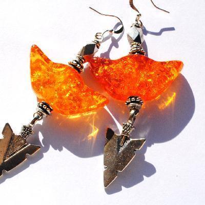 Amb 133a boucles oreilles pendants lotus 18gr 80mm ambre baltique miel ethnique