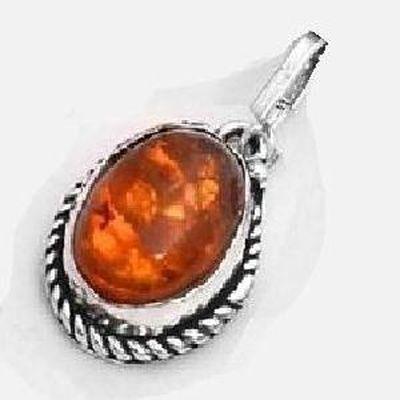 Amb 148c pendant pendentif 10x15mm ambre amber baltique achat vente bijoux argent 925