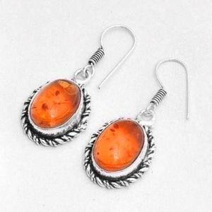 Amb 149b boucles oreilles 6x8mm ambre amber baltique achat vente bijoux argent 925