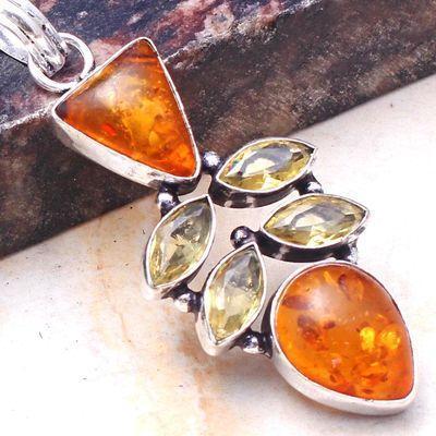 Amb 151c pendant pendentif 7gr 10x15mm ambre amber baltique achat vente bijoux argent 925