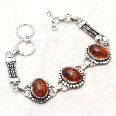 Amb 154d bracelet 13gr 10x15mm ambre amber baltique achat vente bijoux argent 925